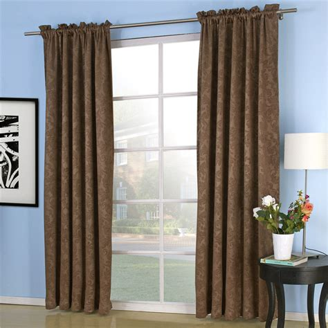 heavy drapability coffee blackout curtain for bedroom