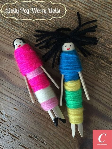 dolly peg worry dolls worry dolls craft stick crafts