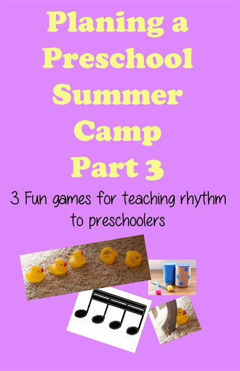 teaching complex rhythm to preschoolers preschool camp 606 | Preschool Camp Part 3