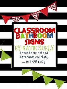 classroom bathroom signs by katie surly teachers pay With bathroom signs for classroom