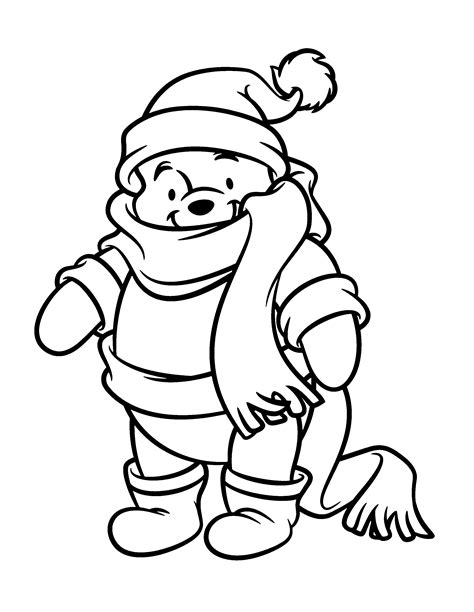 Winnie The Pooh Coloring Pages Winter Winter Coloring