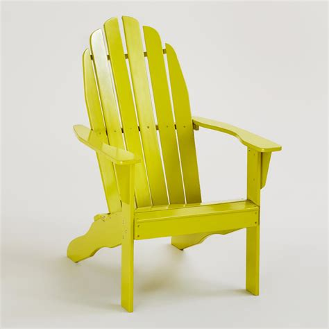 apple green classic adirondack chair world market