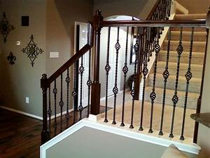 IRON BALUSTERS - Double Basket Stair Wrought Iron Baluster