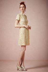 gold vintage inspired short wedding guest dress by bhldn With vintage wedding guest dresses