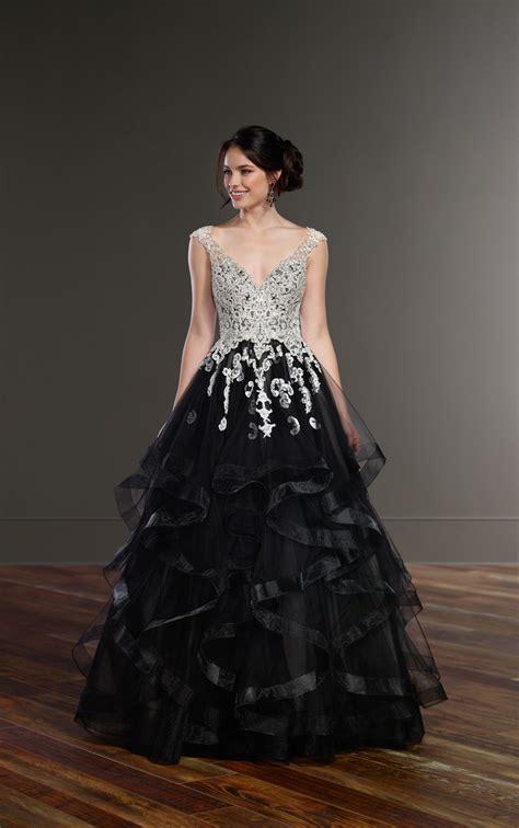 wedding gowns black princess wedding dress martina liana
