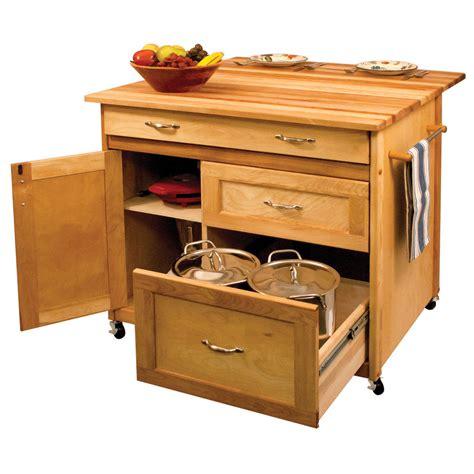 Deep Drawer Hardwood Kitchen Island  Ebay