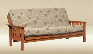 Bedroomdiscounters futons for Wooden frame futon sofa bed