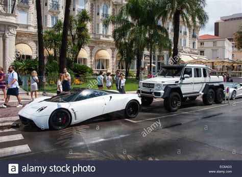 Luxury Cars In Cannes, France Stock Photo, Royalty Free
