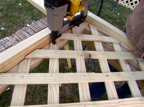 How To Build A Lattice Installing Deck Lattice How Tos Diy