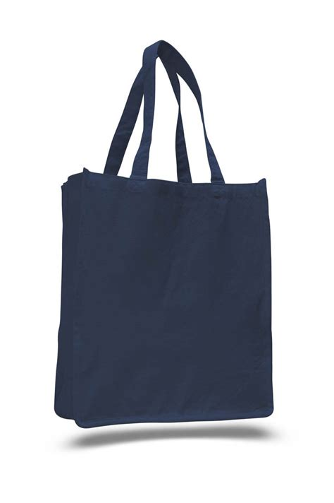 custom imprinted large cotton canvas book tote bags