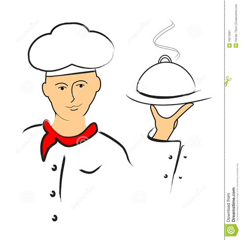 id馥s cuisine simple chef serving food stock vector image of smoke white 16073991