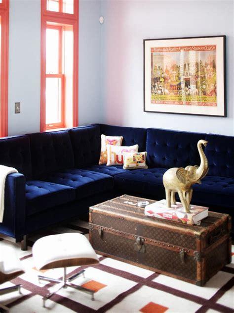 blue velvet sofa living room unexpected color palettes color palette and schemes for