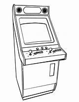 Coloring Pages Arcade Games Printable Colouring Drawing Line Books Party Drawings Designlooter sketch template