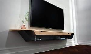 Meuble Tv Suspendu Led : meuble sous tele murale id es de d coration int rieure french decor ~ Melissatoandfro.com Idées de Décoration