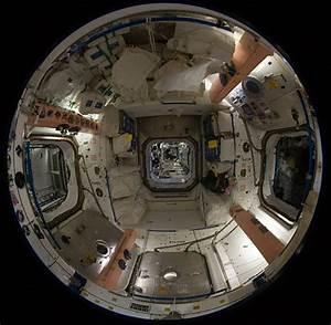 Fish-eye Lens views inside of Space Station | wordlessTech