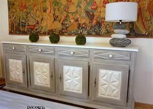 buffet louis xii peint gris blanc effet vieilli et With les styles de meubles anciens 5 quels styles de deco pour votre salon ideeco