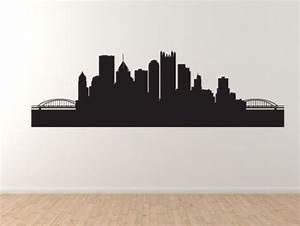 American City Skyline - Pittsburgh PA Contour Silhouette