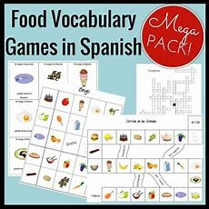 Food Vocabulary Games In Spanish