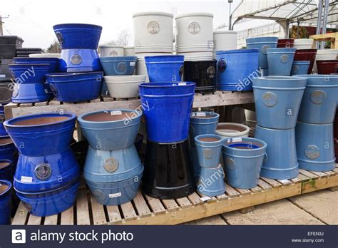 garden pots for sale ceramic glazed garden pots for sale at a garden centre uk stock photo royalty free image
