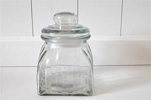 Kleine Gläser Mit Schraubverschluss : vorratsglas mit deckel aus glas eckig vorratsdose nostalgie bonbonglas dekoglas glasdose ca 14cm ~ Eleganceandgraceweddings.com Haus und Dekorationen