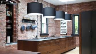 brick kitchen ideas 15 charming brick kitchen designs home design lover
