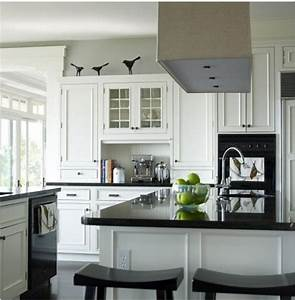 the good of black and white kitchen this for all With kitchen colors with white cabinets with lime green candle holders