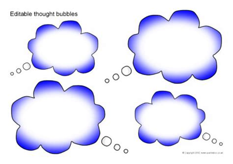 Editable Thought Bubbles  Small (sb8881) Sparklebox