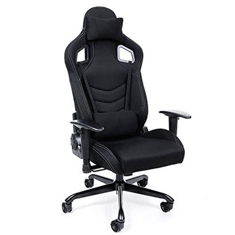 coussin lombaire chaise bureau songmics chaise fauteuil siège de bureau racing sport avec support lombaire et coussin