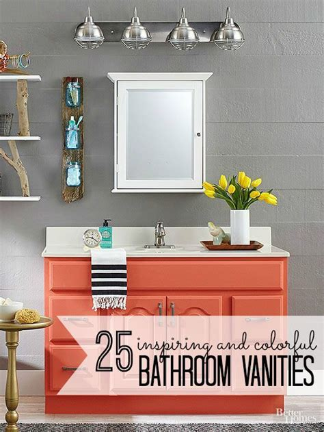 Colorful Bathroom Vanity by Remodelaholic 25 Inspiring And Colorful Bathroom Vanities