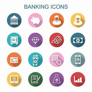 Finance and banking flat icons vector - Business Icons ...