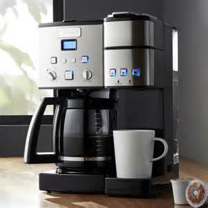 top wedding registry stores cuisinart combination k cup carafe coffee maker crate