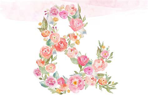monogram floral alphabet letters illustrations  creative market