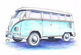 Vw Bus Drawing  Bus Drawing
