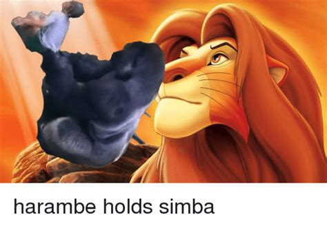 Dank Harambe Memes - harambe holds simba dank meme on sizzle