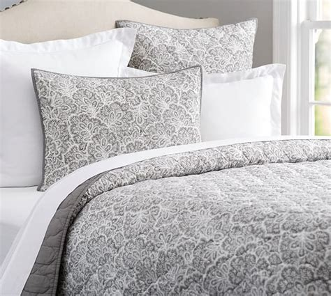 Pottery Barn Coverlets by Clio Reversible Coverlet Sham Smoke Pottery Barn