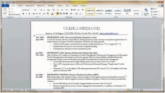 cv template microsoft word 2007 download professional word document images frompo 1