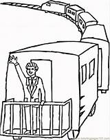 Caboose Coloring Pages Train Printable Drawing Getdrawings Popular Getcolorings Coloringhome sketch template