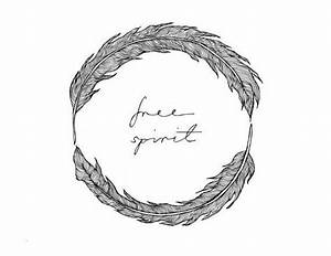 Free Spirit Feather Circle Illustration Design Print ...