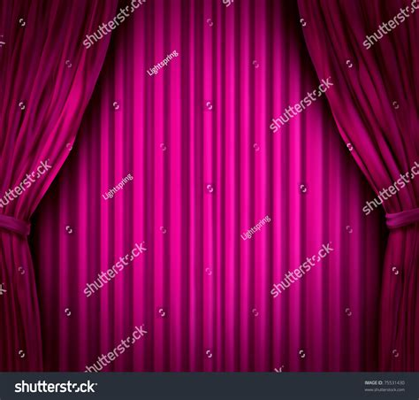 theater stage spot light on pink stock illustration