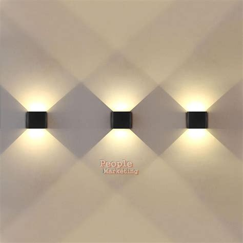 up and down dual head cob led wall light for outdoor and