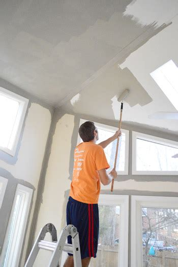 Painting Living Room High Ceilings by How To Paint High Vaulted Ceilings House