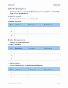 availability plan apple iwork pages numbers With software deployment document template