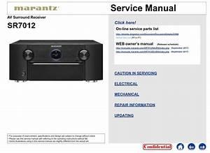Marantz Sr7012 A  V Receiver Service Manual And Repair