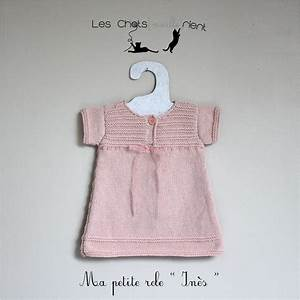 robe bebe fille tricotee main coloris rose poudre 1 3 With robe naissance