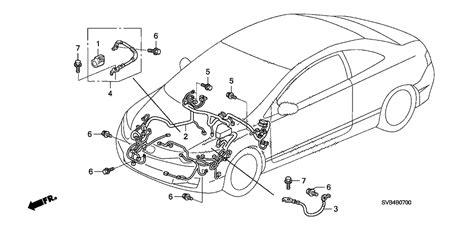 1994 Honda Civic Wiring Harnes by 32200 Svb A12 Genuine Honda Wire Harness Engine Room