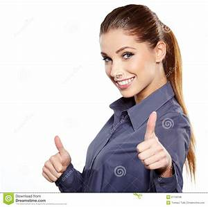 Business Woman With Ok Hand Sign Stock Image