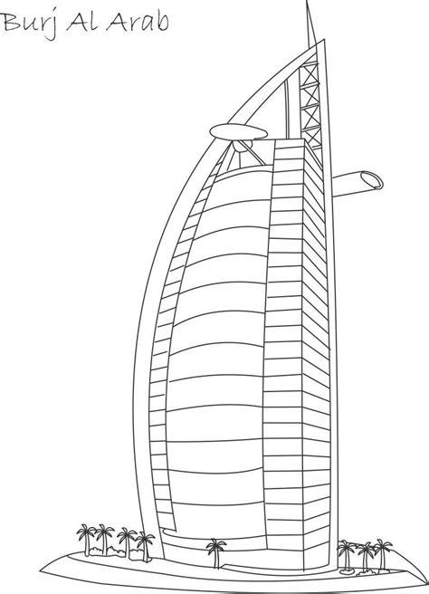burj khalifa colouring pages picolour
