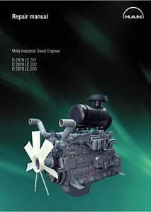 Man Industrial Diesel Engine D 2876 Le 202 Service Repair Manual