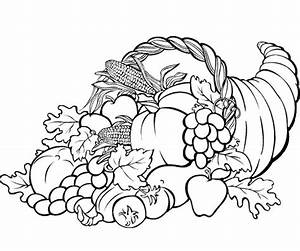 free cornucopia coloring pages - thanksgiving coloring pages cornucopia festival
