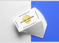 Free Realistic Business Cards Mockup For Graphic Designers